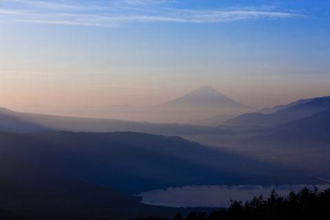 諏訪湖 富士山