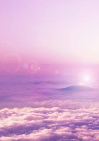 朝日の富士山と雲海