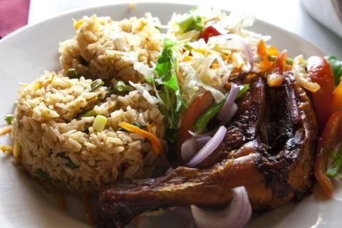 鶏肉と炒め飯