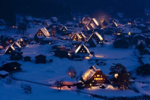 雪の白川郷 世界遺産