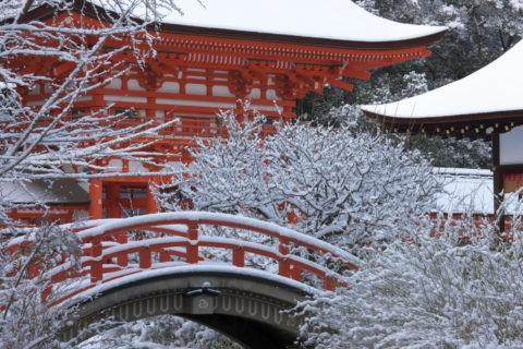下鴨神社 輪橋と楼門 世界遺産