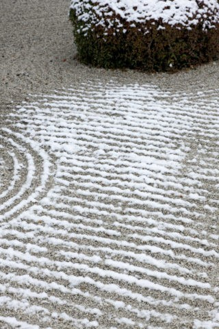 砂紋と淡雪