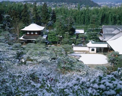 雪の慈照寺(銀閣寺)