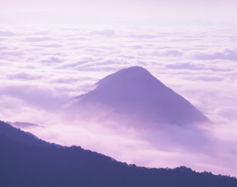 岩戸山と雲海