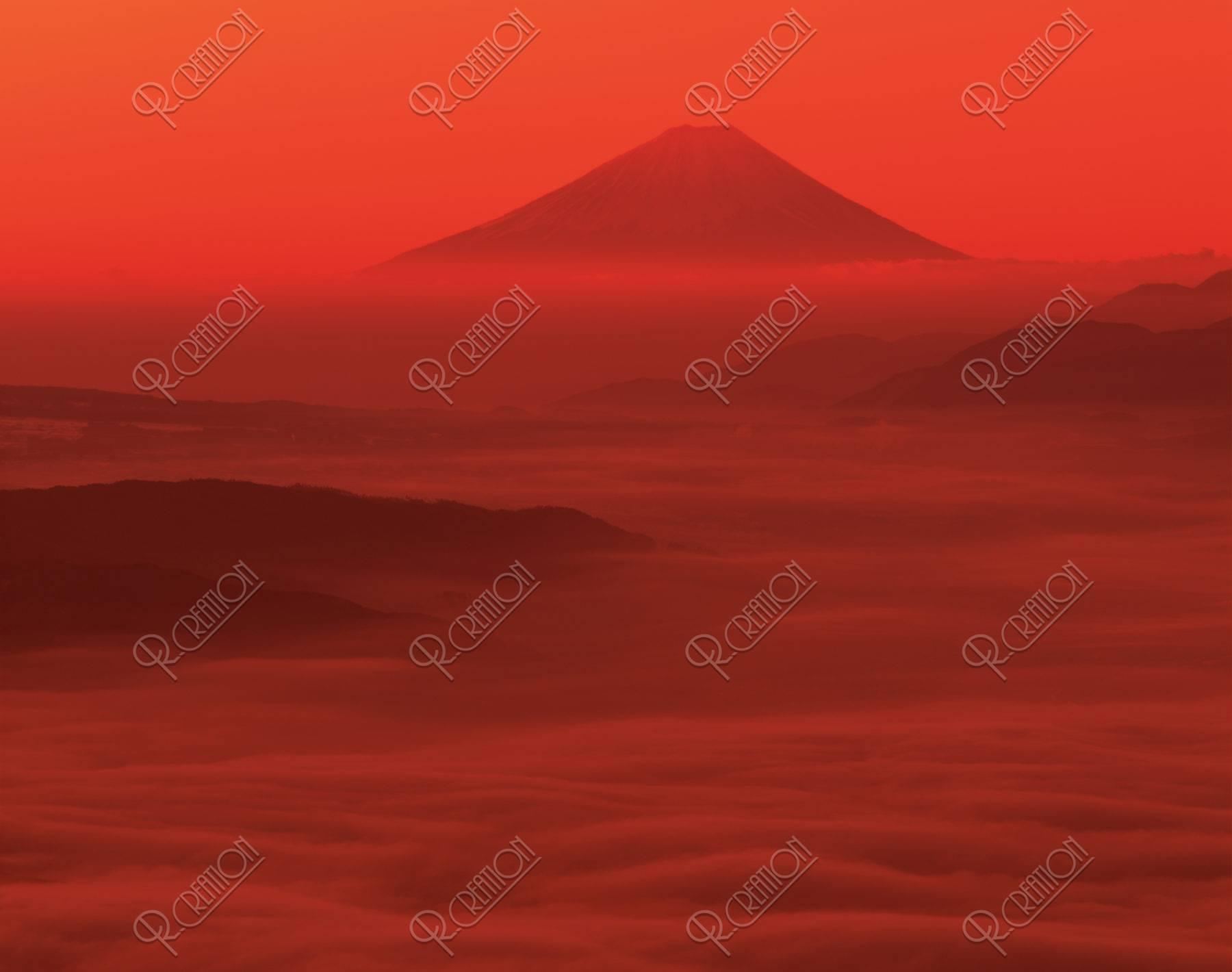 諏訪湖と富士山と雲海