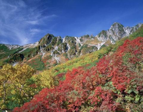 紅葉の宝剣岳
