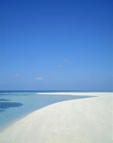 ビーチと空 モルディブ