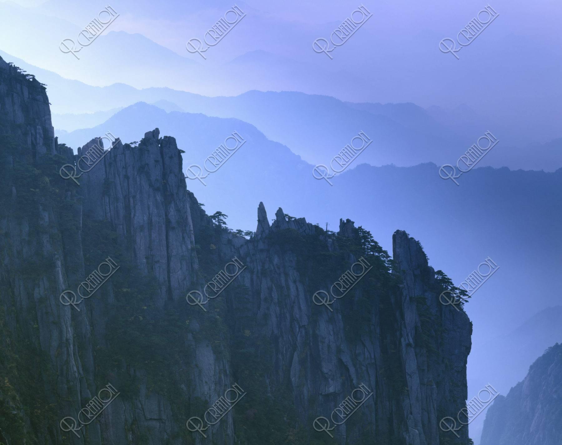 黄山 山並 世界遺産