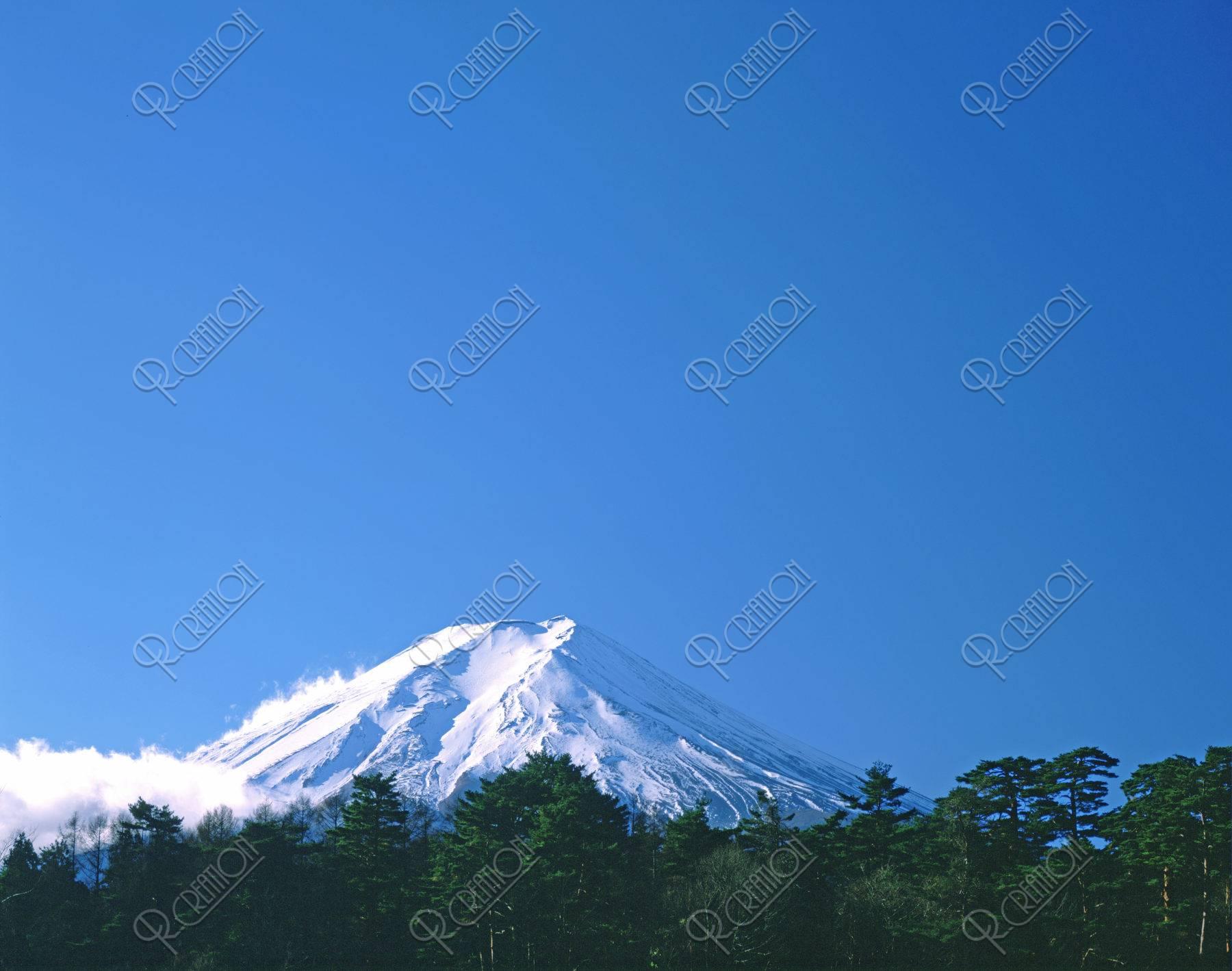 新雪 富士山