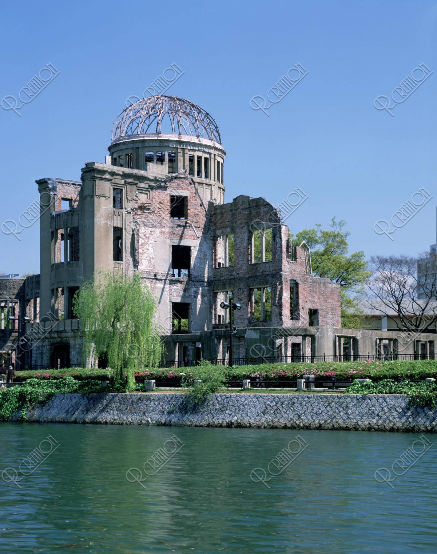 原爆ドームと元安川 世界遺産