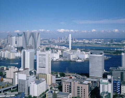 隅田川と晴海