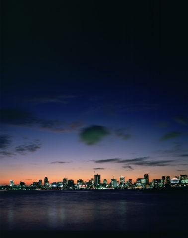 ビル群と夜景