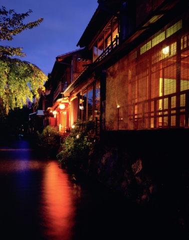 祇園白川の夜景