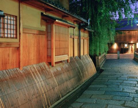 祇園 巽橋付近の夜景