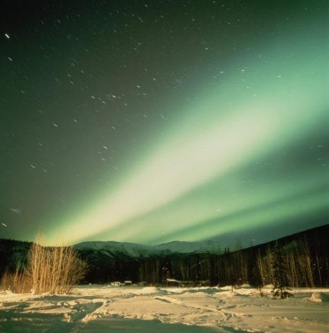 オーロラ フェアバンクス郊外 アラスカ