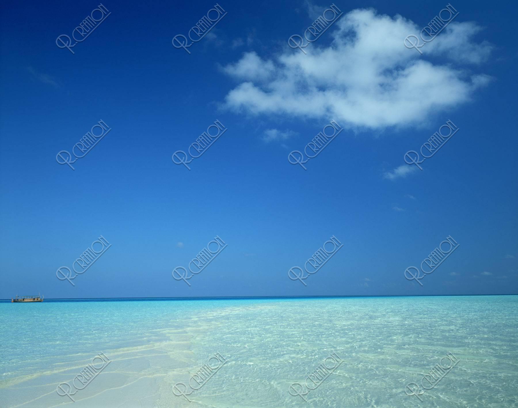 空と海 モルジブ