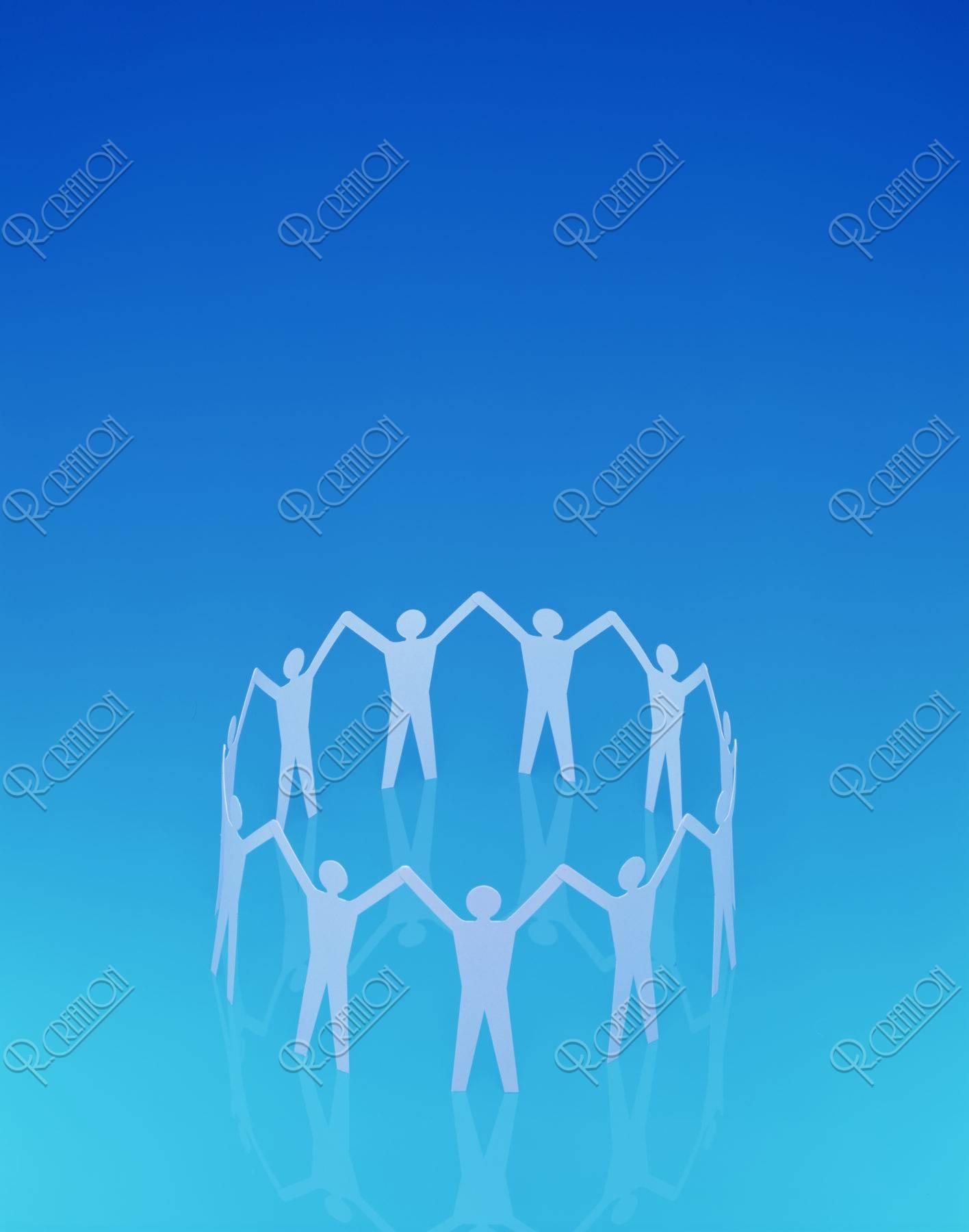 円に並んだ人の形