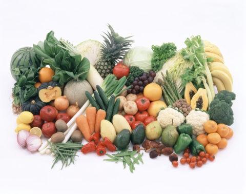 果実・野菜類の集合