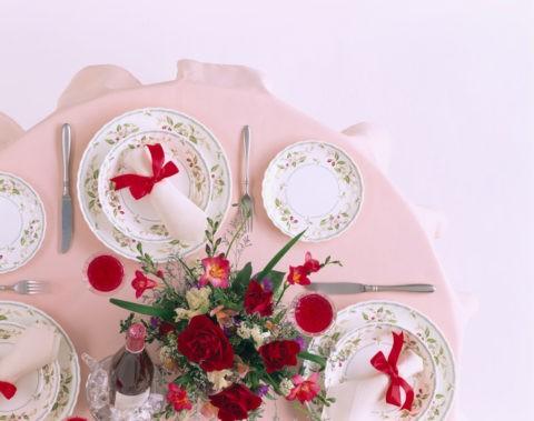 ディナーイメージ 野苺柄のお皿