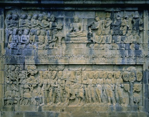 ボロブドゥール遺跡の彫刻