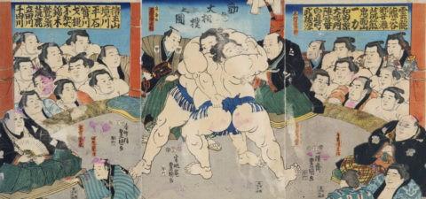 勧進大相撲の図 豊國