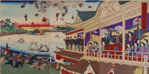 大阪 蒸気機関車と駅