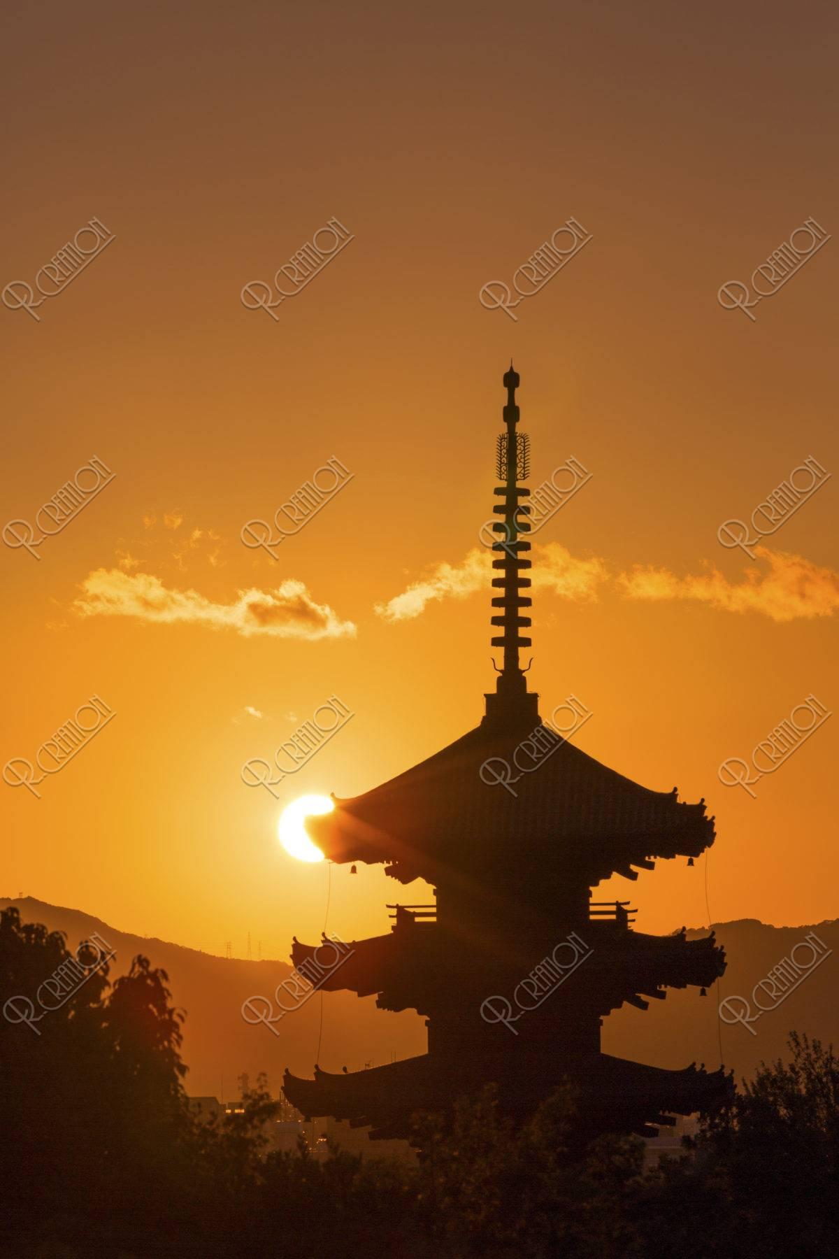 八坂の塔 夕日