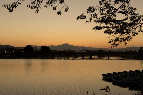 夜明け前の渡月橋