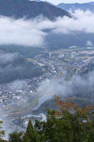 雲海と和田山町
