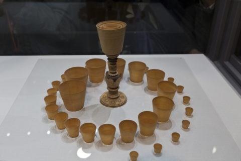故宮博物院 木雕高足套杯