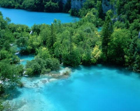 湖と新緑 プリトヴィツェ W.H.