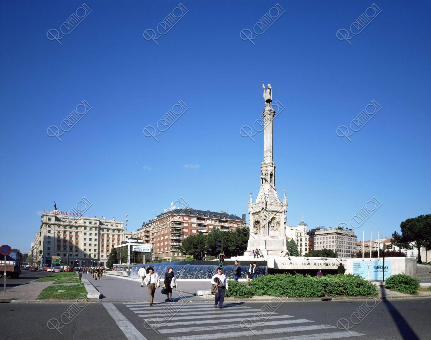 コロンブスの像 マドリード スペイン