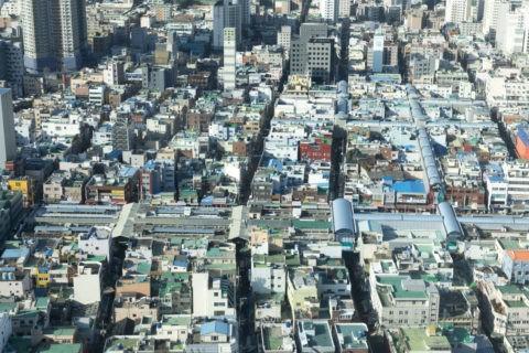 釜山タワーからの国際市場