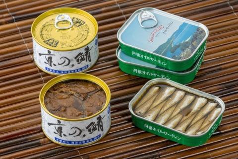 オイルサーディンと鯖の缶詰