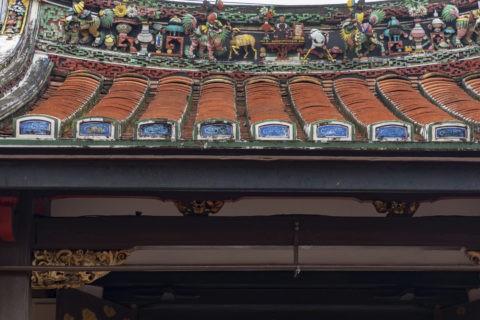 青雲亭寺院 屋根の装飾