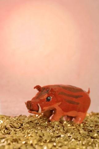 正月 猪(CG合成)