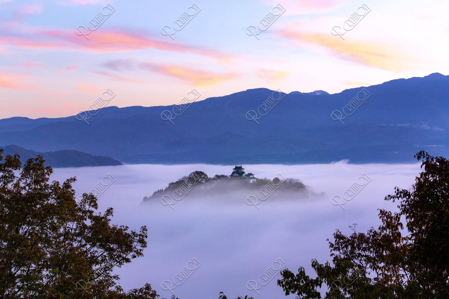 雲海の大野城朝焼け