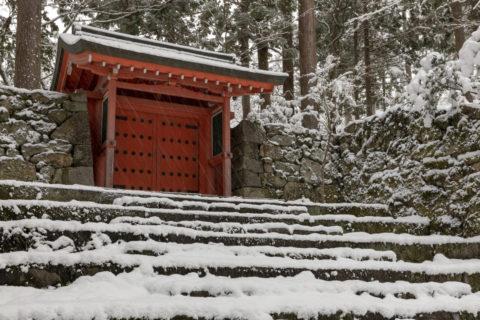 雪の三千院 朱雀門
