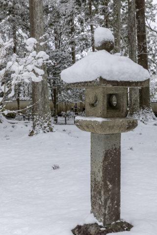 雪積る灯篭