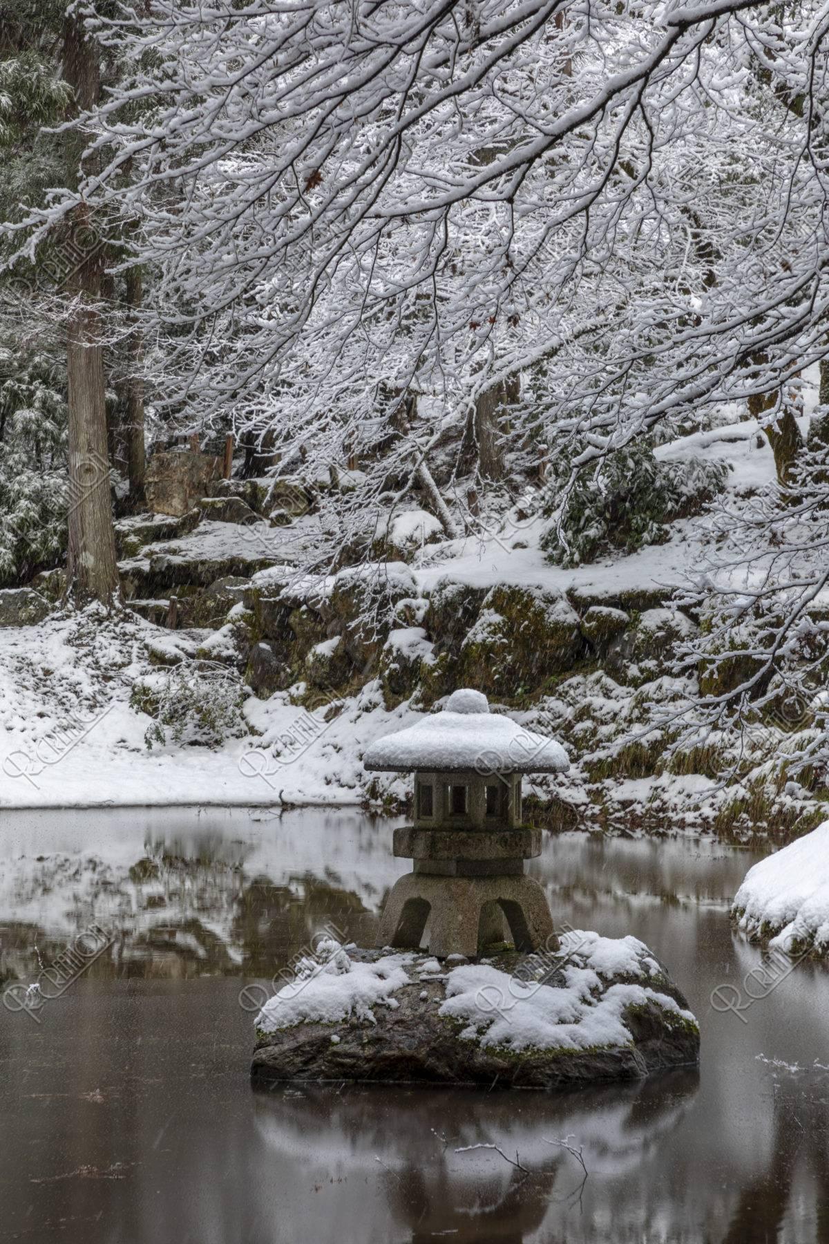 常照皇寺 雪景色