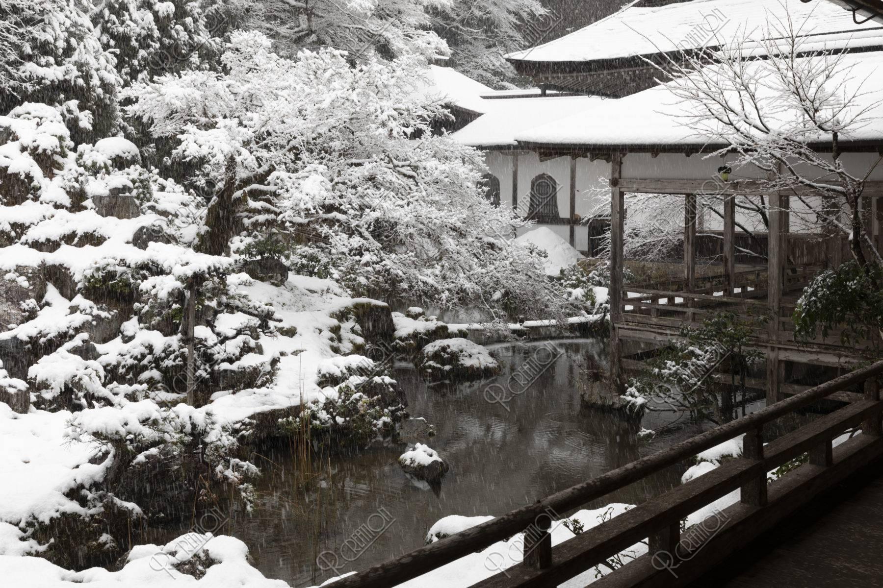 常照皇寺 方丈庭園 雪景色