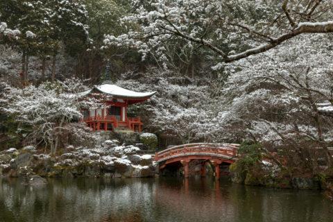 雪の醍醐寺 弁天堂