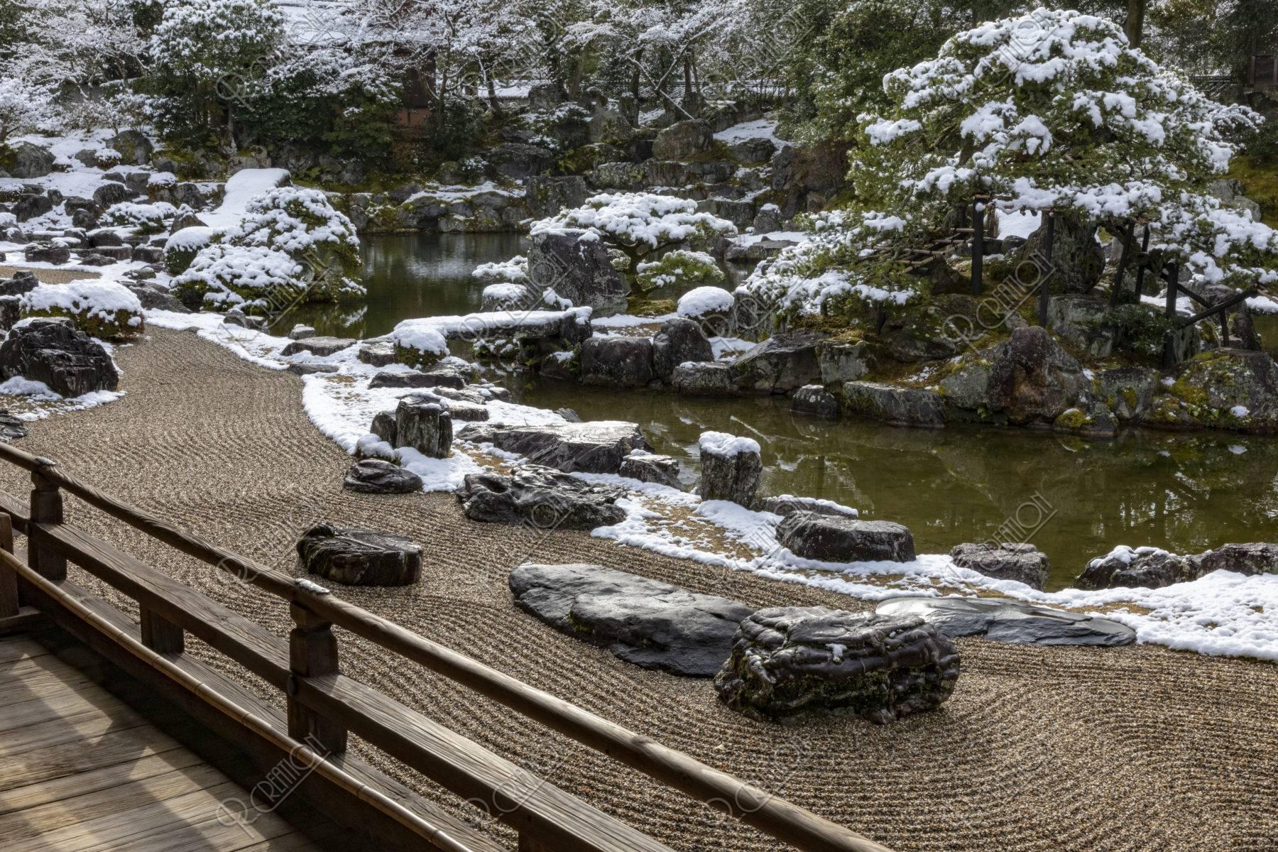 雪の醍醐寺 三宝院 庭園