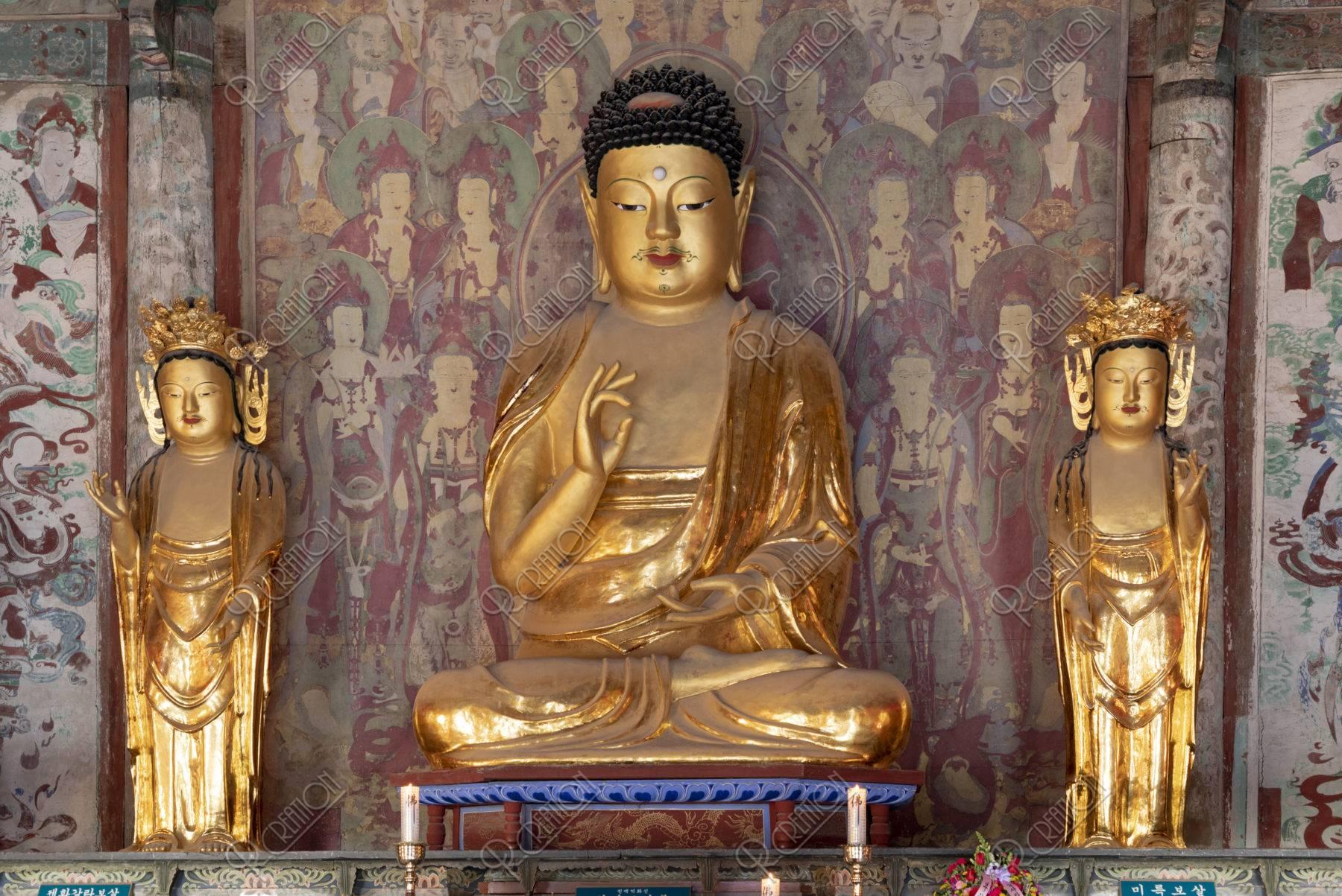 仏国寺 釈迦三尊像