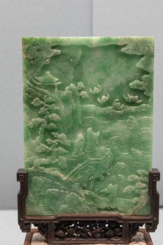 故宮博物院 展示品 翡翠石板