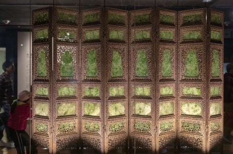 故宮博物院 展示品 碧玉屏風