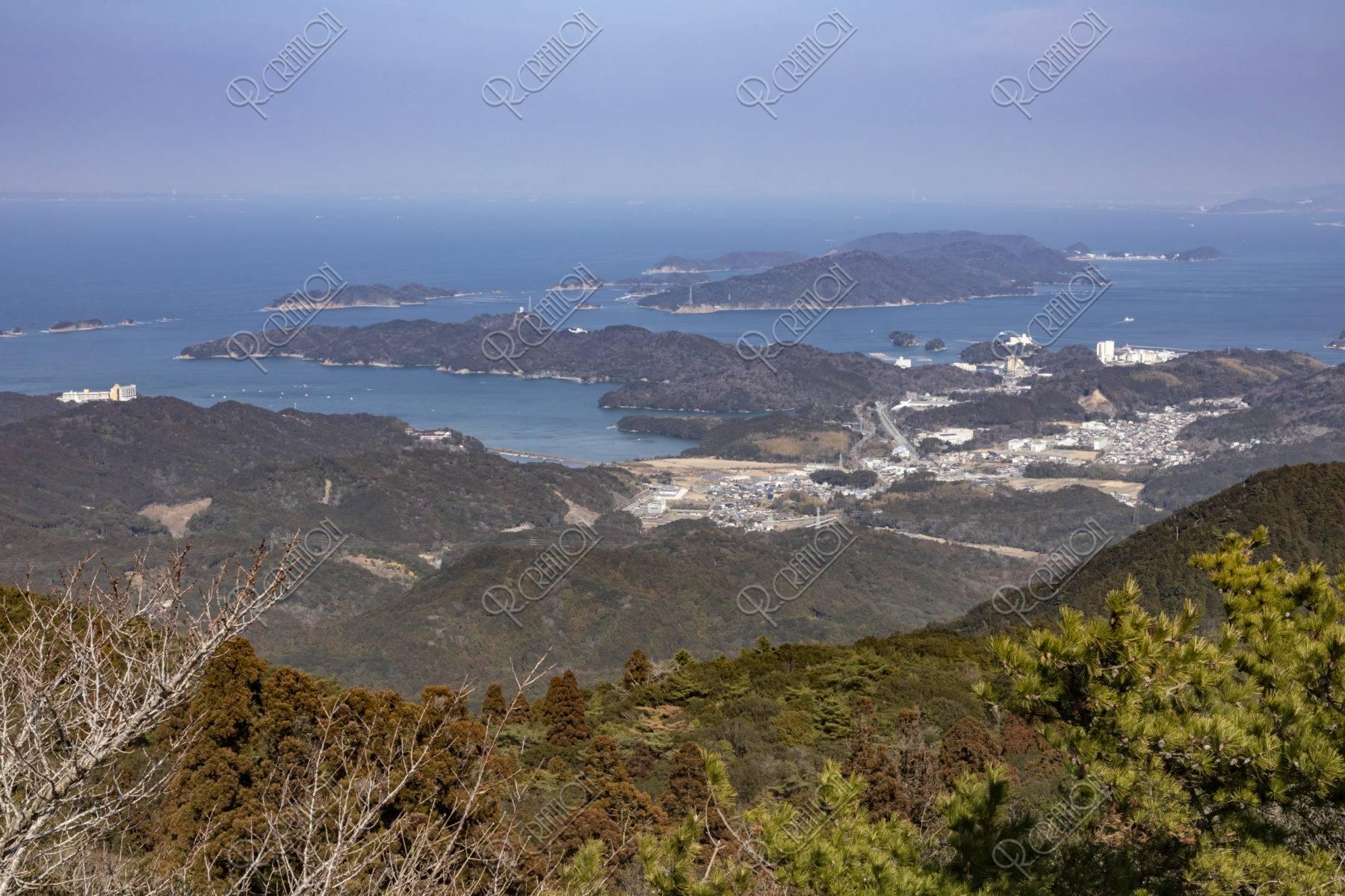 朝熊山展望台からの展望