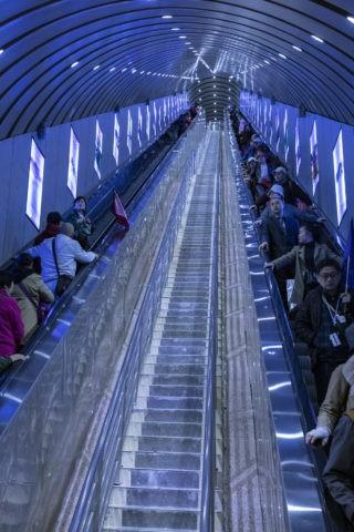 世界一長いエスカレーター