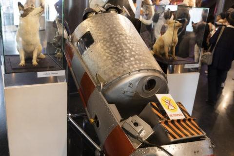 宇宙飛行士記念博物館 内部 宇宙犬とスプートニク