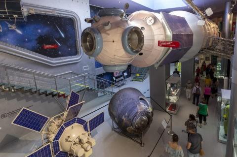 宇宙飛行士記念博物館 内部